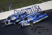 The No. 2 Miller Lite Dodge and the No. 12 Alltel Dodge at the Coca-Cola 600
